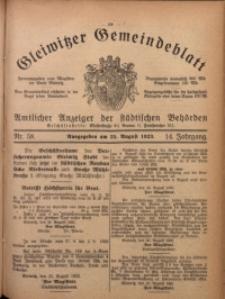 Gleiwitzer Gemeindeblatt, 1923, Jg. 14, Nr. 58