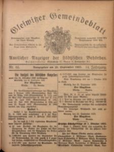 Gleiwitzer Gemeindeblatt, 1923, Jg. 14, Nr. 65