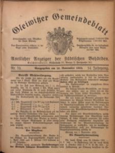 Gleiwitzer Gemeindeblatt, 1923, Jg. 14, Nr. 73