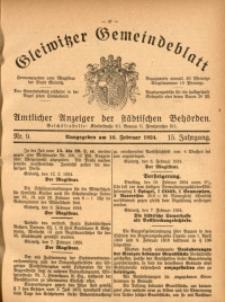 Gleiwitzer Gemeindeblatt, 1924, Jg. 15, Nr. 9