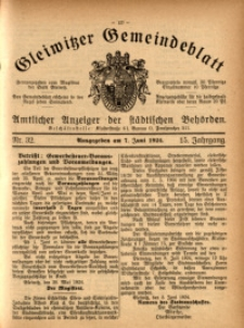 Gleiwitzer Gemeindeblatt, 1924, Jg. 15, Nr. 32
