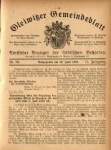 Gleiwitzer Gemeindeblatt, 1924, Jg. 15, Nr. 36