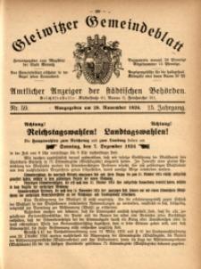 Gleiwitzer Gemeindeblatt, 1924, Jg. 15, Nr. 59