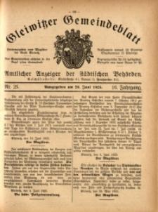 Gleiwitzer Gemeindeblatt, 1925, Jg. 16, Nr. 25