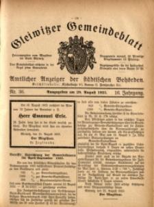 Gleiwitzer Gemeindeblatt, 1925, Jg. 16, Nr. 36