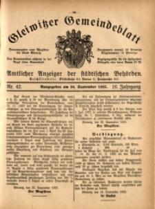 Gleiwitzer Gemeindeblatt, 1925, Jg. 16, Nr. 42