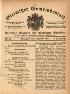 Gleiwitzer Gemeindeblatt, 1925, Jg. 16, Nr. 52