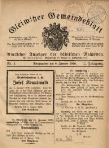 Gleiwitzer Gemeindeblatt, 1926, Jg. 17, Nr. 1
