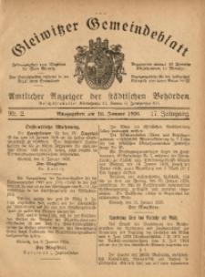 Gleiwitzer Gemeindeblatt, 1926, Jg. 17, Nr. 2