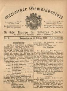 Gleiwitzer Gemeindeblatt, 1926, Jg. 17, Nr. 7