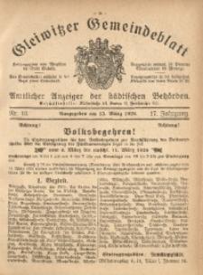 Gleiwitzer Gemeindeblatt, 1926, Jg. 17, Nr. 10