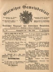 Gleiwitzer Gemeindeblatt, 1926, Jg. 17, Nr. 19
