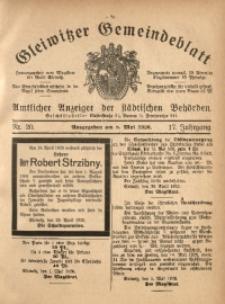 Gleiwitzer Gemeindeblatt, 1926, Jg. 17, Nr. 20