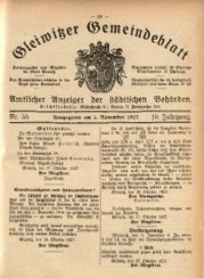 Gleiwitzer Gemeindeblatt, 1927, Jg. 18, Nr. 50