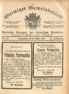 Gleiwitzer Gemeindeblatt, 1928, Jg. 19, Nr. 10