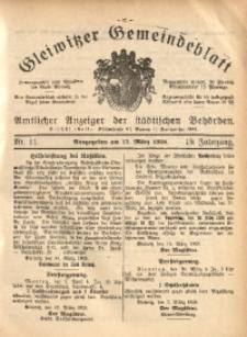 Gleiwitzer Gemeindeblatt, 1928, Jg. 19, Nr. 11