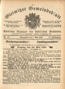 Gleiwitzer Gemeindeblatt, 1928, Jg. 19, Nr. 18