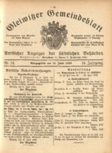 Gleiwitzer Gemeindeblatt, 1928, Jg. 19, Nr. 24