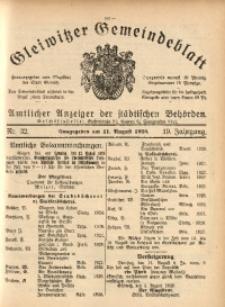 Gleiwitzer Gemeindeblatt, 1928, Jg. 19, Nr. 32