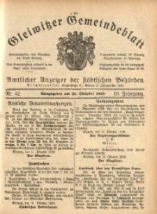 Gleiwitzer Gemeindeblatt, 1928, Jg. 19, Nr. 42
