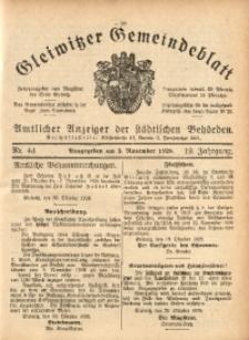 Gleiwitzer Gemeindeblatt, 1928, Jg. 19, Nr. 44