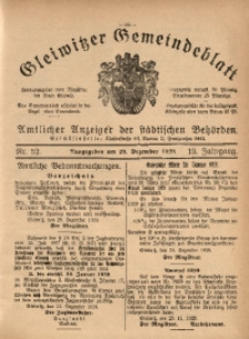 Gleiwitzer Gemeindeblatt, 1928, Jg. 19, Nr. 52