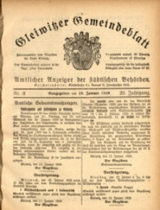 Gleiwitzer Gemeindeblatt, 1929, Jg. 20, Nr. 3