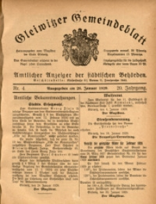 Gleiwitzer Gemeindeblatt, 1929, Jg. 20, Nr. 4