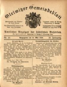 Gleiwitzer Gemeindeblatt, 1929, Jg. 20, Nr. 20