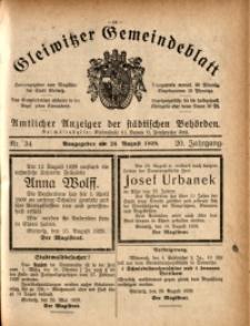 Gleiwitzer Gemeindeblatt, 1929, Jg. 20, Nr. 34