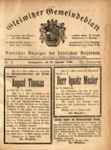 Gleiwitzer Gemeindeblatt, 1930, Jg. 21, Nr. 3