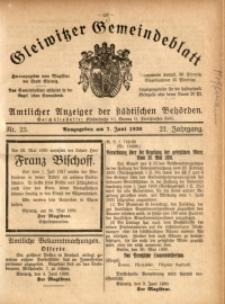 Gleiwitzer Gemeindeblatt, 1930, Jg. 21, Nr. 23