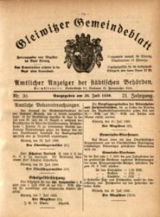 Gleiwitzer Gemeindeblatt, 1930, Jg. 21, Nr. 30