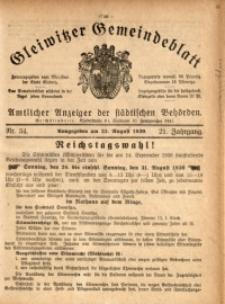 Gleiwitzer Gemeindeblatt, 1930, Jg. 21, Nr. 34