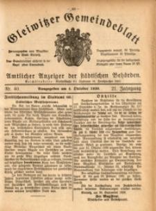 Gleiwitzer Gemeindeblatt, 1930, Jg. 21, Nr. 40