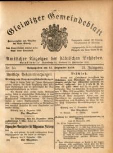 Gleiwitzer Gemeindeblatt, 1930, Jg. 21, Nr. 50