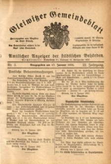 Gleiwitzer Gemeindeblatt, 1931, Jg. 22, Nr. 3