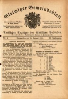 Gleiwitzer Gemeindeblatt, 1931, Jg. 22, Nr. 4