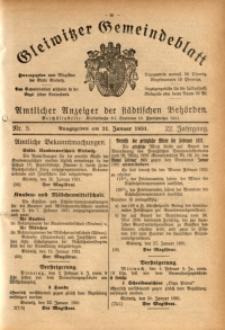 Gleiwitzer Gemeindeblatt, 1931, Jg. 22, Nr. 5