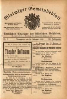 Gleiwitzer Gemeindeblatt, 1931, Jg. 22, Nr. 7