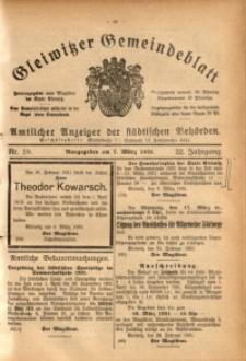 Gleiwitzer Gemeindeblatt, 1931, Jg. 22, Nr. 10