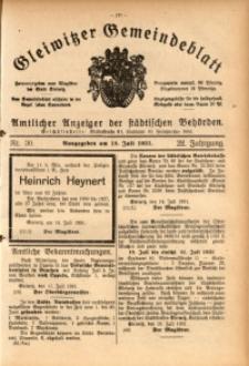 Gleiwitzer Gemeindeblatt, 1931, Jg. 22, Nr. 30