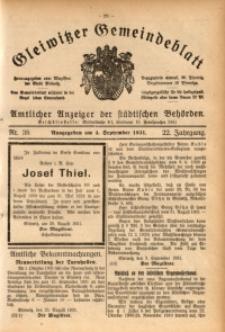 Gleiwitzer Gemeindeblatt, 1931, Jg. 22, Nr. 38
