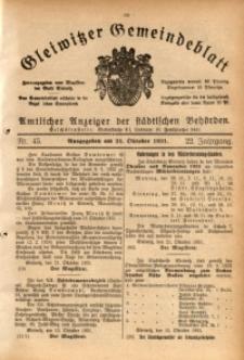 Gleiwitzer Gemeindeblatt, 1931, Jg. 22, Nr. 45