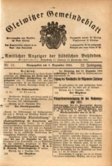 Gleiwitzer Gemeindeblatt, 1931, Jg. 22, Nr. 51