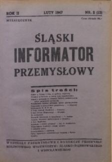 Śląski Informator Przemysłowy, 1947, R. 2, nr 2 (13)
