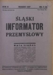 Śląski Informator Przemysłowy, 1947, R. 2, nr 3 (14)