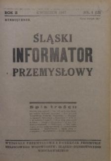 Śląski Informator Przemysłowy, 1947, R. 2, nr 4 (15)