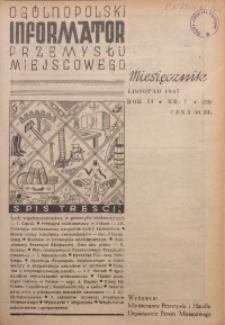 Ogólnopolski Informator Przemysłu Miejscowego, 1947, R. 2, nr 7 (22)
