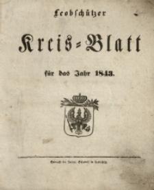 Leobschützer Kreisblatt, 1843, Jg. 1, St. 1